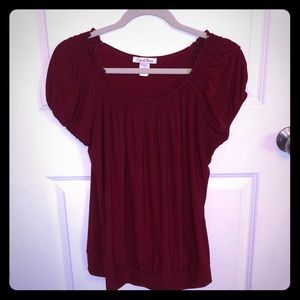 Stretchy Maroon Blouse by Carol Rose
